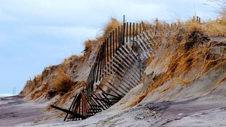 Robert Moses State Park was hit by the