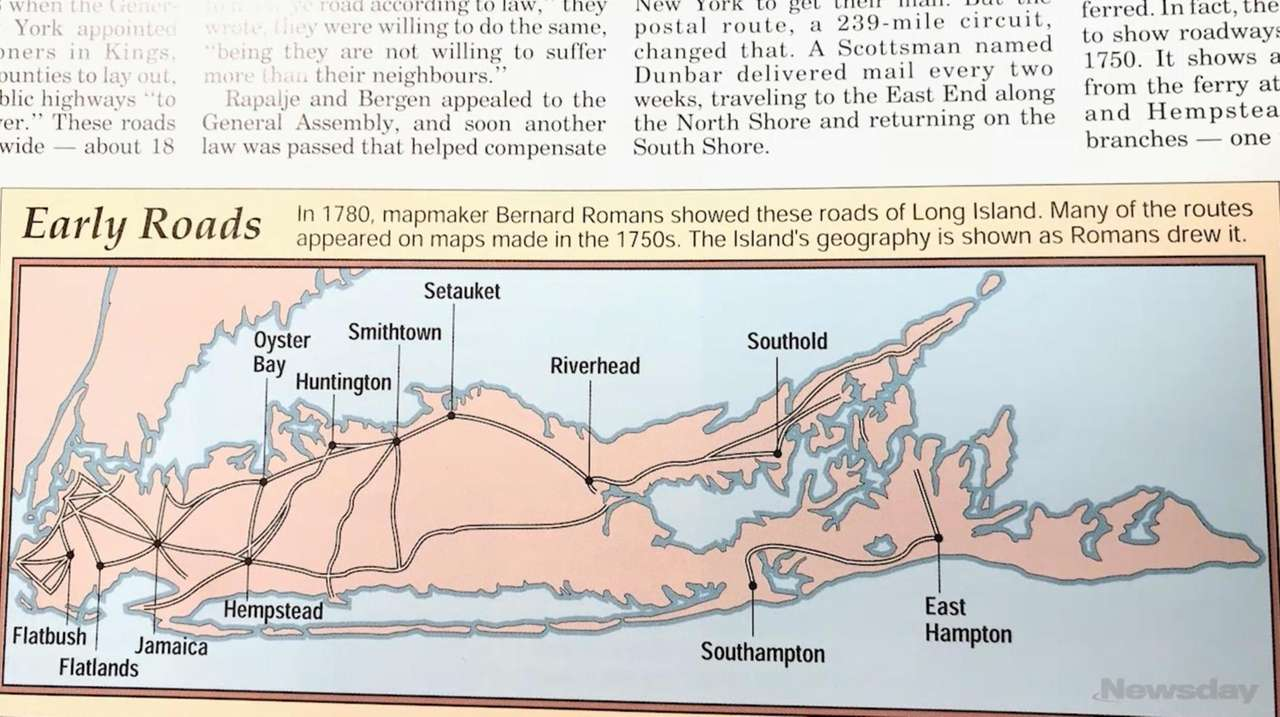 The roads of Long Island begin to evolve