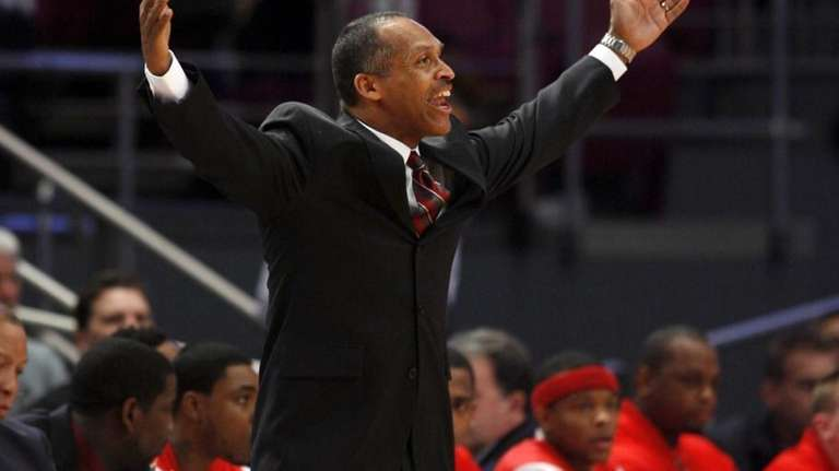 St. John's head coach Norm Roberts yells from