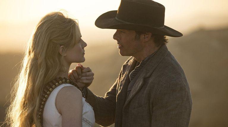 Evan Rachel Wood and James Marsden in HBO's
