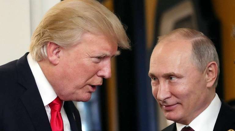 President Donald Trump and Russian counterpart Vladimir Putin