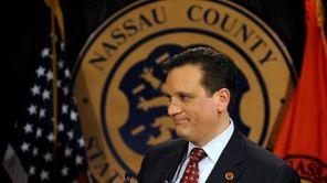 Nassau County Executive Edward Mangano makes his state