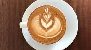 A latte at Pipeline Coffee Co., which has