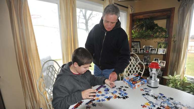 Mike Griffin, 70, and his 11-year-old grandson, Christopher