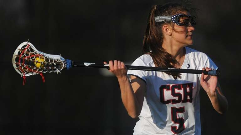 Sophia DeRosa of Cold Spring Harbor looks to