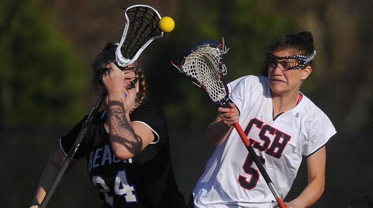Sophia DeRosa of Cold Spring Harbor, right, and