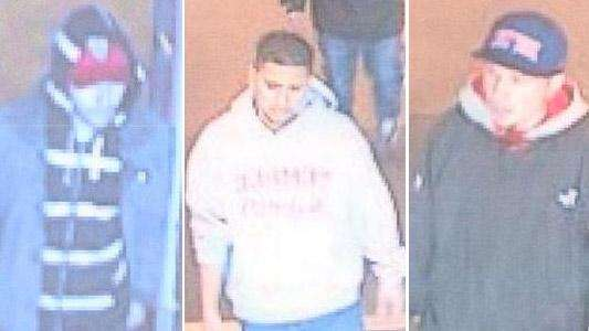 Suffolk County police are looking for three men