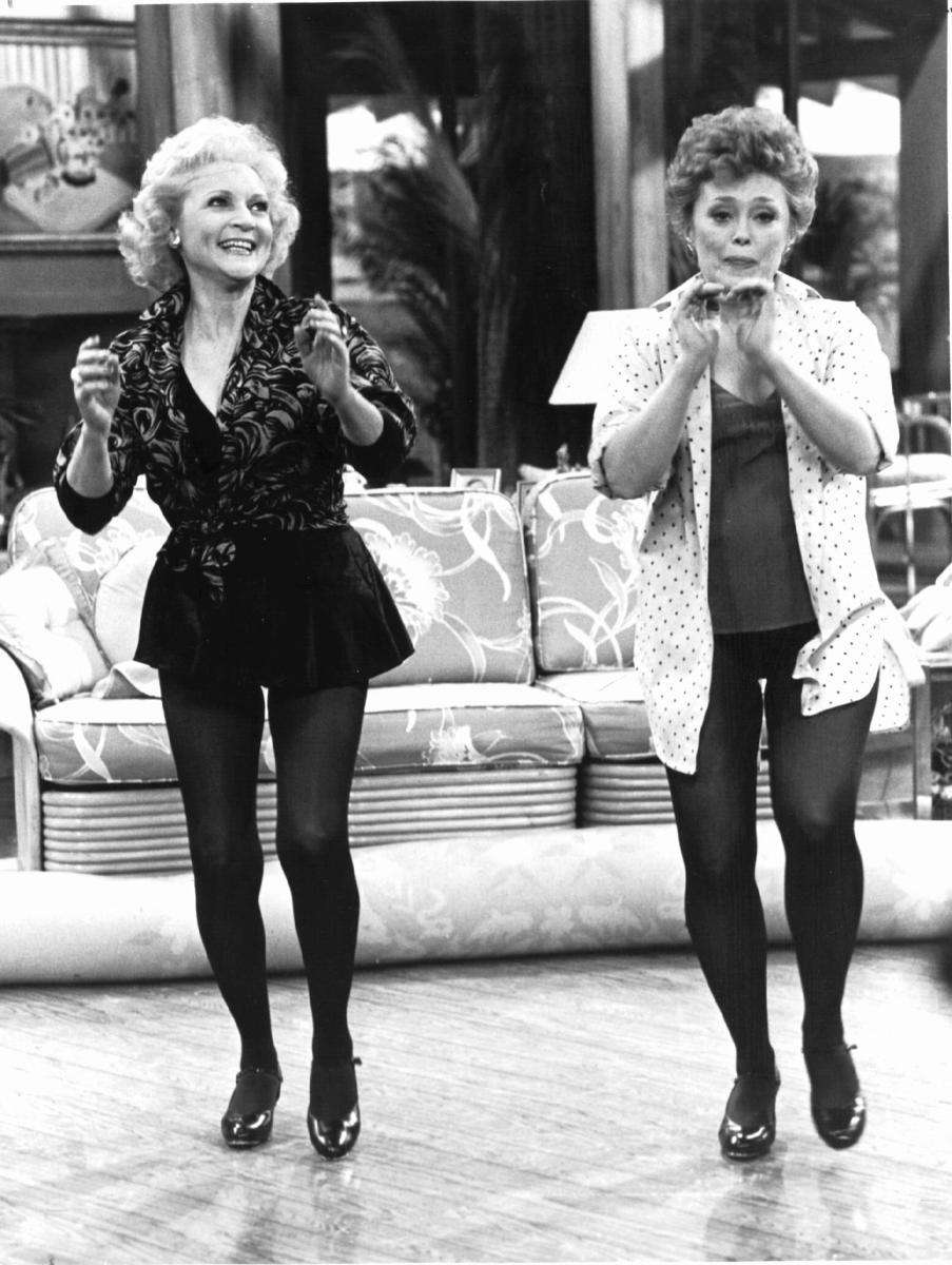 Betty White and Rue McClanahan practice a tap