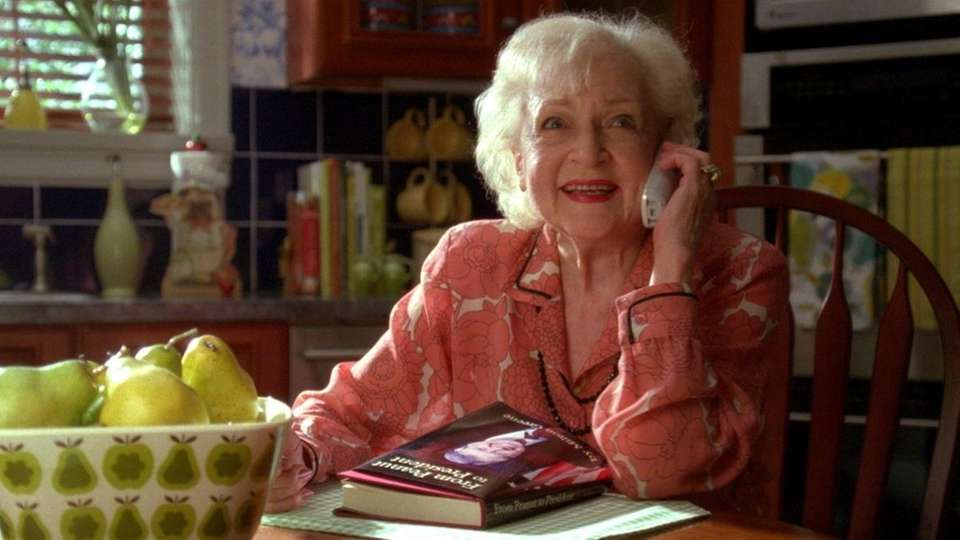 Betty White as herself in an episode of