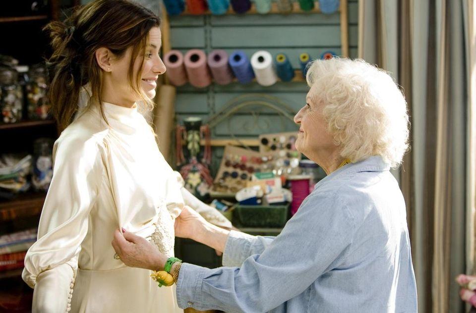 Sandra Bullock and Betty White are shown in