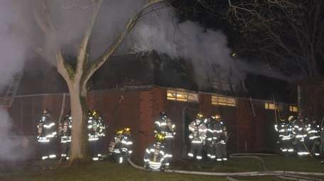 The Wantagh Fire Department responds to a fire