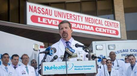 Nassau University Medical Center CEO and president Dr.