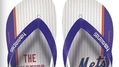 Flip-flops from the Havaianas x MLB collection, $24