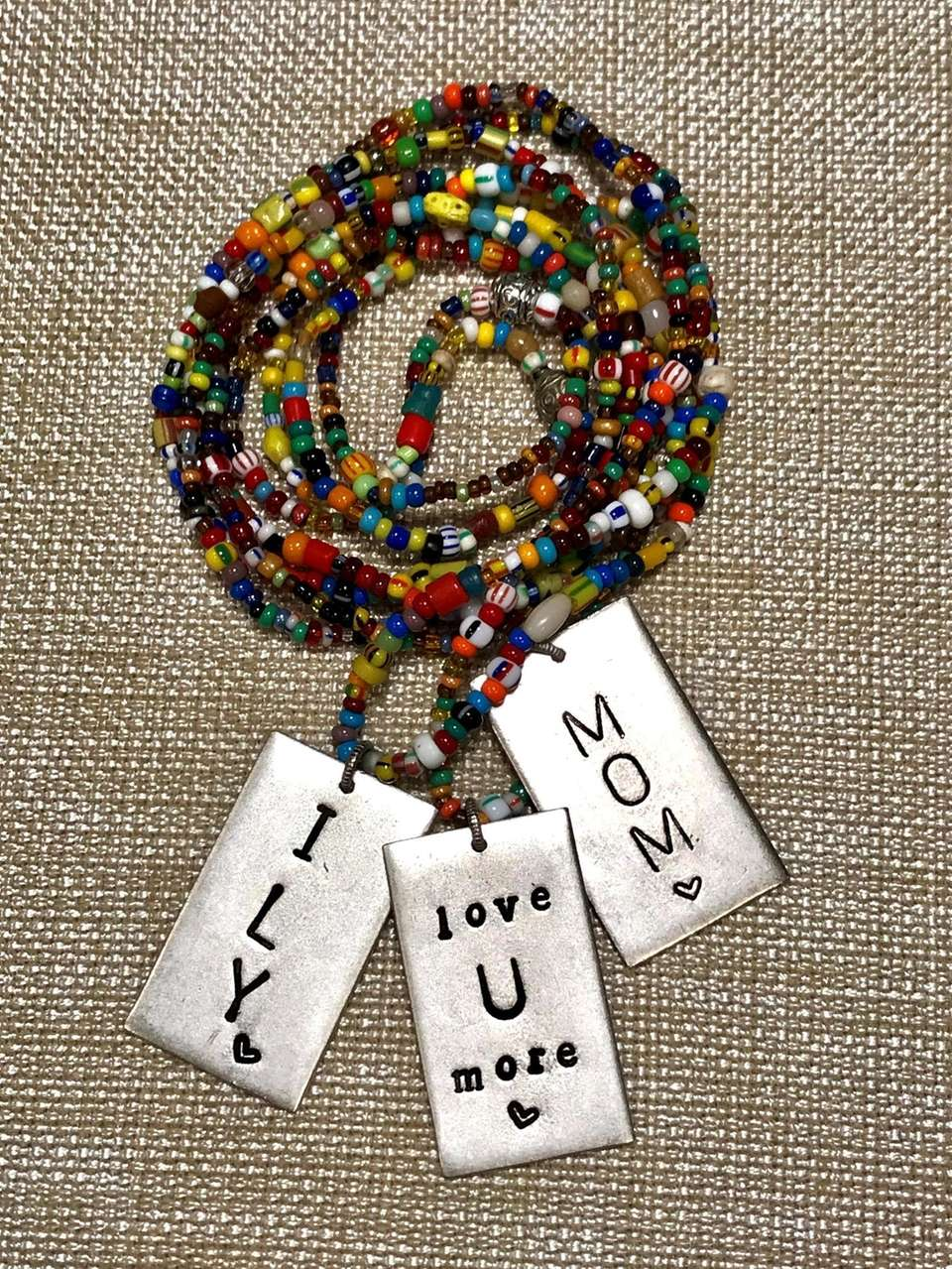 Inspirational, hand-stamped jewelry is a specialty of 24ave,