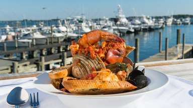 Dave's Original Cioppino served at Dave's Gone Fishing