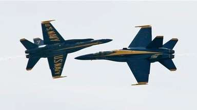 Two members of the U.S. Navy Blue Angels