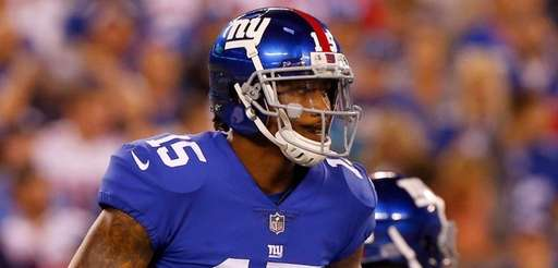 The Giants released wide receiver Brandon Marshall Thursday.