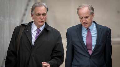 Former Nassau County Executive Edward Mangano leaves federal