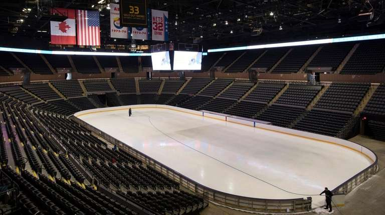 NYCB Live's Nassau Coliseum is set up for