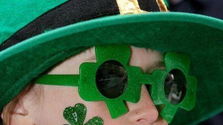 Kerry Mannix, 7, of Riverhead sports a glitter
