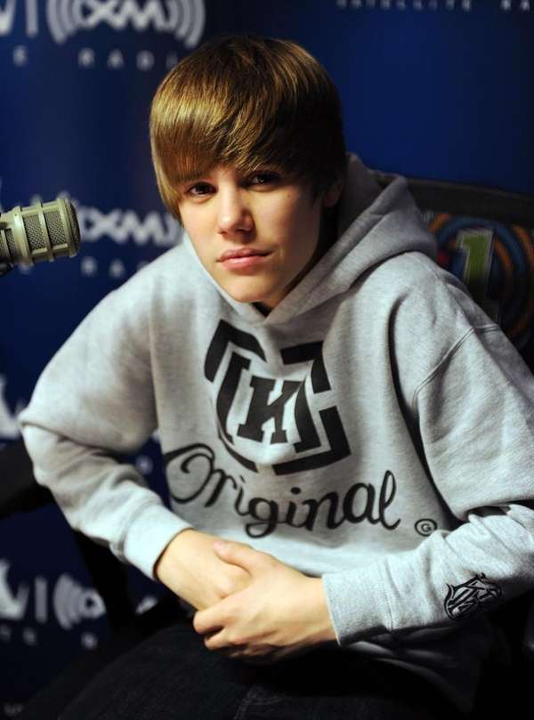 Justin Bieber visits SIRIUS XM Studio in Manhattan.