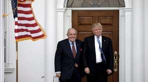 Rudy Giuliani with then-President-elect Donald Trump on Nov.
