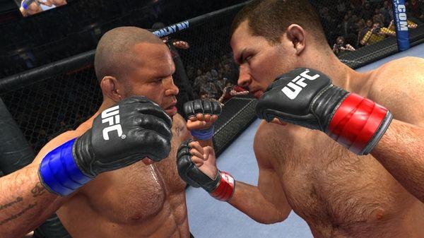 Wanderlei Silva vs. Michael Bisping in a screenshot