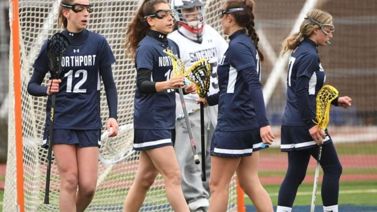 Olivia Carner spoke about the Northport girls lacrosse