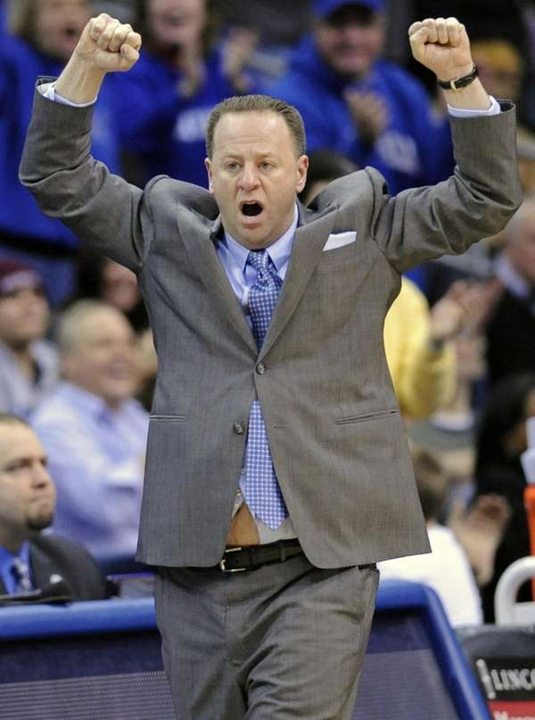 Seton Hall coach Bobby Gonzalez reacts during the