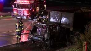 Emergency workers responded to a crash Friday morning