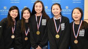 The Herricks High School team of Emily Wei,