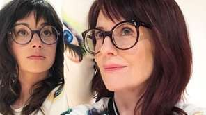 Stephanie Hunt, left, and Megan Mullally are Nancy