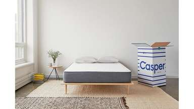 Casper's mattresses arrive in a box. Once opened,
