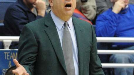 Hofstra University men's basketball head coach Tom Pecora