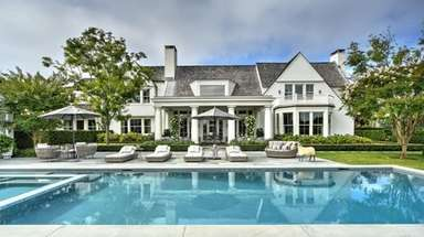 The seven-bedroom Water Mill home was redone by