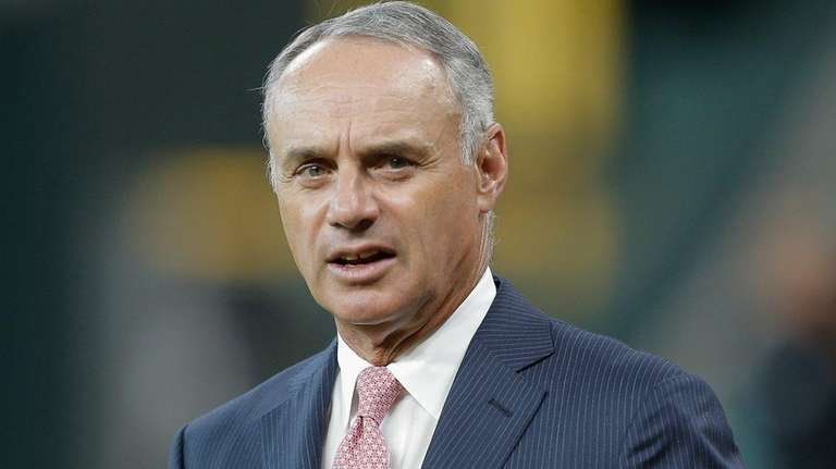 MLB Commissioner Rob Manfred at Minute Maid Park