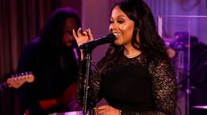 Chrisette Michele performs at the White House during