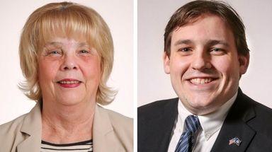 Deborah Slinkosky, left, and her opponent, Doug Smith,