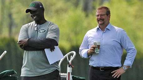 Jets coach Todd Bowles and general manager Mike