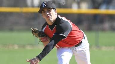Starting pitcher Nick Gavilla of Half Hollow Hills