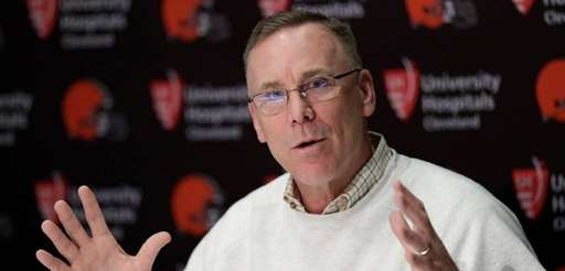 Browns general manager John Dorsey answers questions about