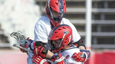 Stony Brook's Chris Pickel Jr. and Tom Haun