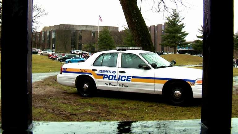 Hempstead High School students are dismissed after a