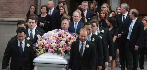 The coffin of former first lady Barbara Bush