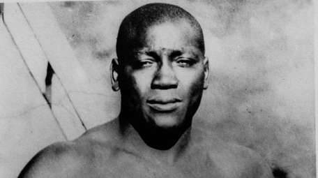 This undated photo shows boxer Jack Johnson.