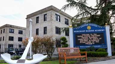 The entrance to the U.S. Merchant Marine Academy