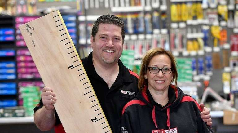 Trio Hardware owners Todd and Ritsa Kirschner in