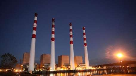 The National Grid power plant in Northport, seen