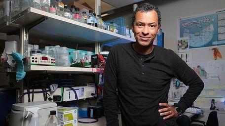 Dr. Lloyd Trotman in his lab on April