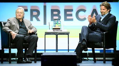 Robert De Niro and Bradley Cooper speak onstage